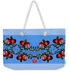 Weekender Tote Bag featuring the photograph Apples Bramble by Adria Trail