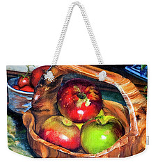 Apples In A Burled Bowl Weekender Tote Bag