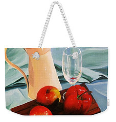 Apples, Lime And Capsicum Weekender Tote Bag