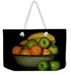 Weekender Tote Bag featuring the photograph Apples, Oranges And Bananas 1 by Angie Tirado