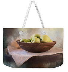 Weekender Tote Bag featuring the photograph Apples by Robin-Lee Vieira