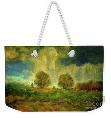 Weekender Tote Bag featuring the digital art Approaching Storm At Antietam by Lois Bryan