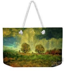 Weekender Tote Bag featuring the digital art Approaching Storm At Antietam by Lois Bryan