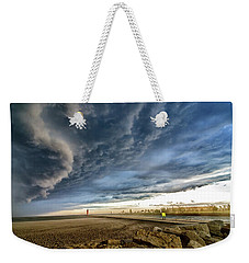 Weekender Tote Bag featuring the photograph Approaching Storm by Steven Santamour