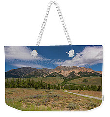 Weekender Tote Bag featuring the photograph Approaching The Sawtooth Mountains by Brenda Jacobs