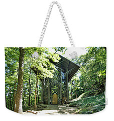 Weekender Tote Bag featuring the photograph Approaching Thorncrown Chapel by Cricket Hackmann