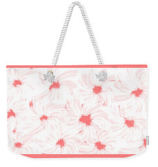 'apricot And White Flower Abstract 2' Weekender Tote Bag