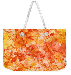 Weekender Tote Bag featuring the painting Apricot Delight  by Patricia Lintner