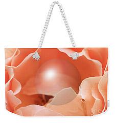 Apricot Rose With Sphere Weekender Tote Bag