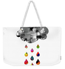 Weekender Tote Bag featuring the mixed media April Showers- Art By Linda Woods by Linda Woods