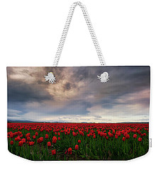 Weekender Tote Bag featuring the photograph April Showers by Ryan Manuel