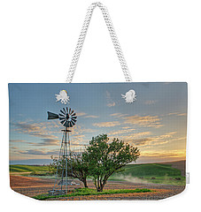 Spring Sunset And Windmill Weekender Tote Bag