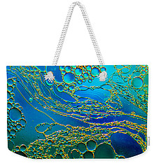 Aqua Abstraction Weekender Tote Bag by Bruce Pritchett