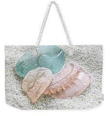 Aqua And Peach Weekender Tote Bag