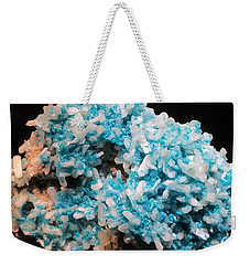 Aqua And White Gemstone Weekender Tote Bag
