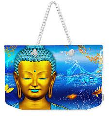 Aqua Buddha Weekender Tote Bag