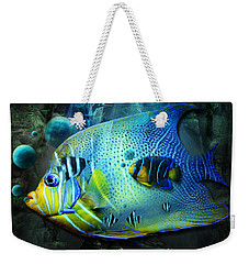 Aqua Fantasy Art World Weekender Tote Bag