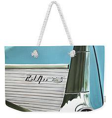Aqua Fin Weekender Tote Bag