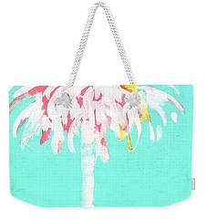 Aqua Marine Palm Weekender Tote Bag