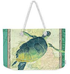 Aqua Maritime Sea Turtle Weekender Tote Bag