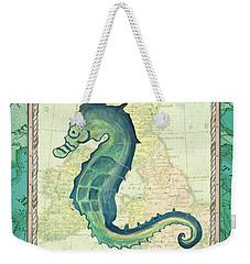 Aqua Maritime Seahorse Weekender Tote Bag