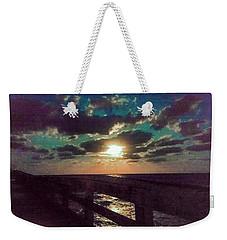 Aqua Moon Weekender Tote Bag