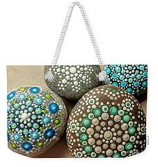 Aqua Pondering Pebbles Weekender Tote Bag