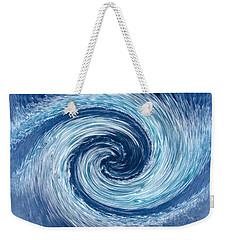 Aqua Swirl Weekender Tote Bag by Keith Armstrong