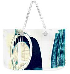 Aqua Tones Weekender Tote Bag by Linda Bianic
