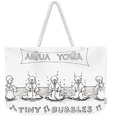 Aqua Yoga Weekender Tote Bag