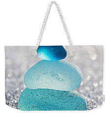 Aquamarine Ice Weekender Tote Bag by Barbara McMahon