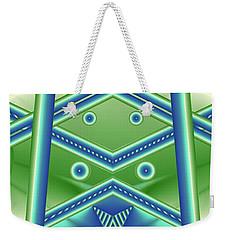 Weekender Tote Bag featuring the digital art Aquamarine by Ron Bissett