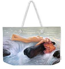 Aquamarine Sea Goddess Weekender Tote Bag