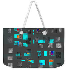 Weekender Tote Bag featuring the painting Aquarium - Abstract Art  by Ann Powell