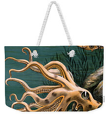 Aquarium Octopus Vintage Poster Restored Weekender Tote Bag