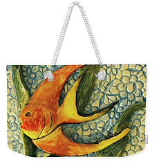 Weekender Tote Bag featuring the photograph Aquarium On The Wall by Itzhak Richter