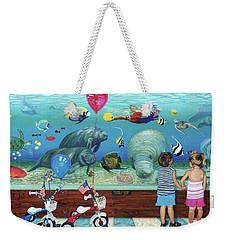 Aquarium With Twins Towel Version Weekender Tote Bag