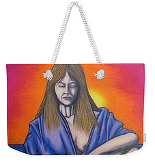 Weekender Tote Bag featuring the drawing Aquarius by Michael  TMAD Finney
