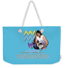 Aquarius Sun Sign Weekender Tote Bag