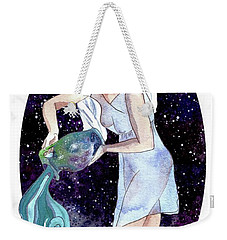 Aquarius Water Bearer Weekender Tote Bag