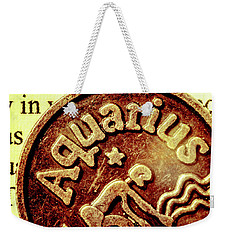 Weekender Tote Bag featuring the photograph Aquarius Zodiac Sign by Jorgo Photography - Wall Art Gallery
