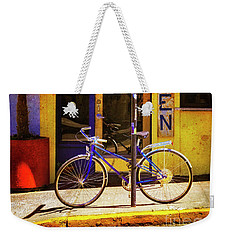 Weekender Tote Bag featuring the photograph Aqueria Bicycle by Craig J Satterlee
