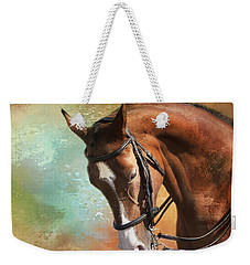 Weekender Tote Bag featuring the photograph Arabian Horse by Theresa Tahara