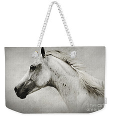 Arabian White Horse Portrait Weekender Tote Bag
