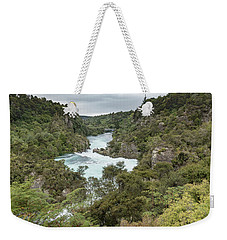 Weekender Tote Bag featuring the photograph Aratiatia Rapids by Gary Eason