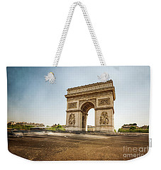 Weekender Tote Bag featuring the photograph Arc De Triumph by Hannes Cmarits