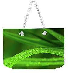 Weekender Tote Bag featuring the photograph Arc Of Raindrops by SR Green