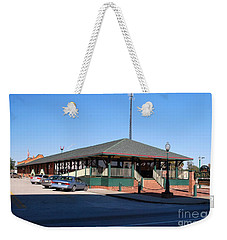 Weekender Tote Bag featuring the photograph Arcadia Train Station by Gary Wonning