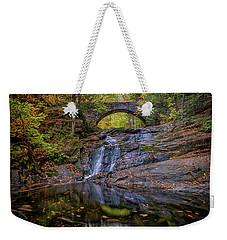 Weekender Tote Bag featuring the photograph Arch Bridge In Autumn by Rick Berk