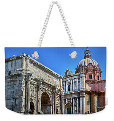 Weekender Tote Bag featuring the photograph Arch Of Septimius Severus At The Roman Forum by Eduardo Jose Accorinti